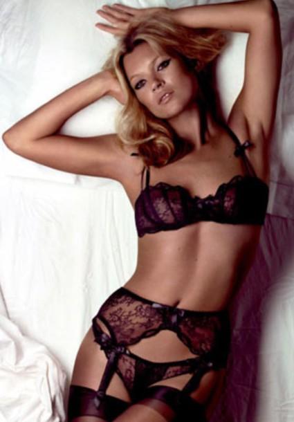kate moss model lingerie sexy black lingerie hot black bra underwear
