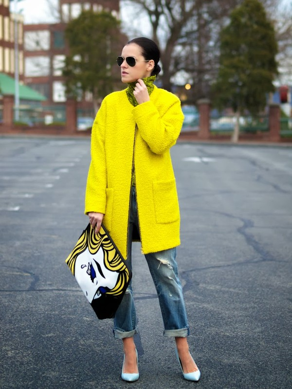 bittersweet colours jeans coat t-shirt shoes bag sunglasses