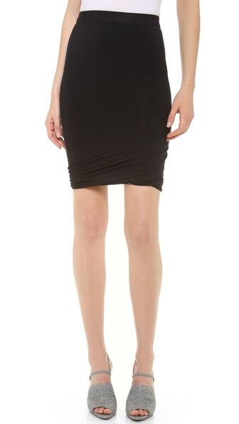 T by Alexander Wang Micromodal Twist Skirt | SHOPBOP