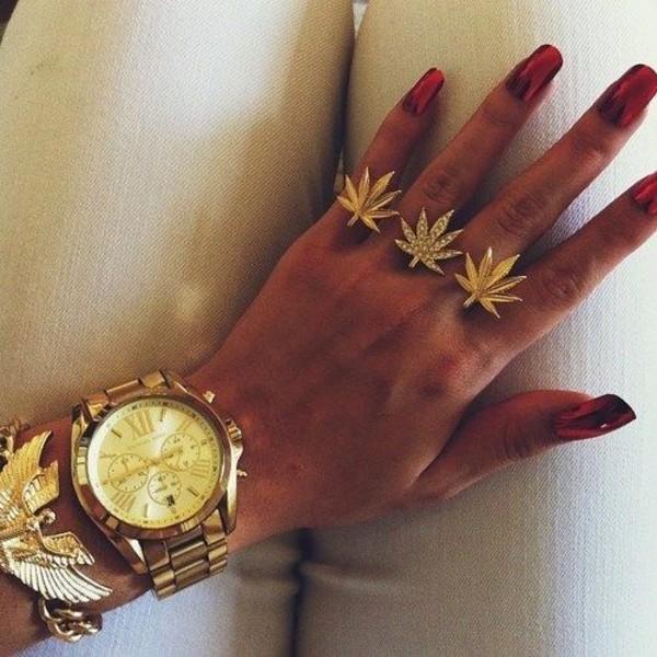 jewels gold jewelry ring marijuana weed smoke sweater