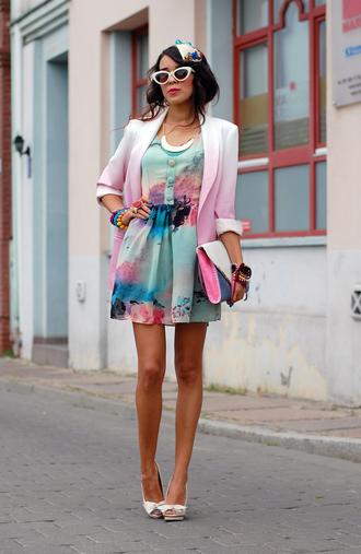 macademian girl jacket dress shoes bag jewels sunglasses