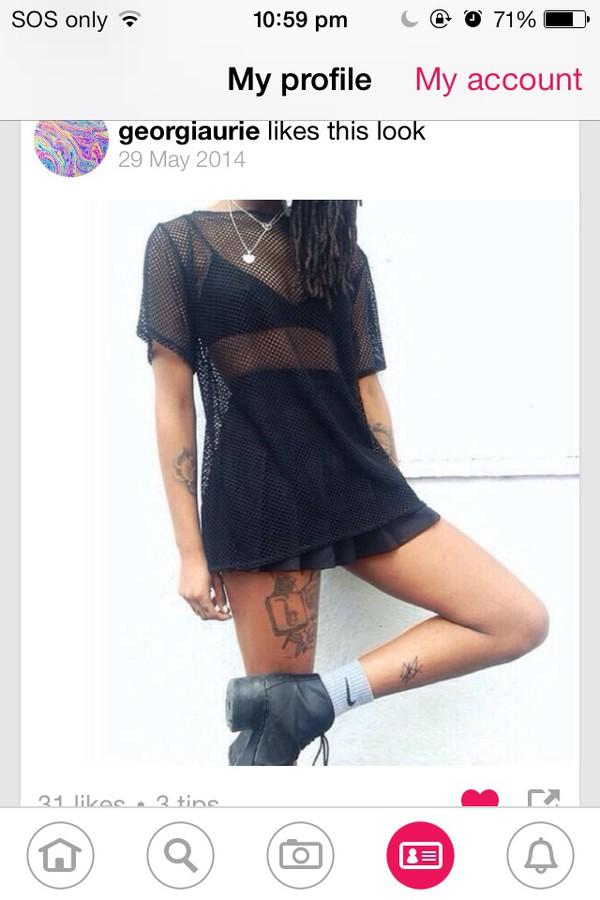 dress mesh black underwear