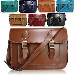 Large Faux Leather Ladies Satchel Designer Shoulder Bag School College Office UK | eBay