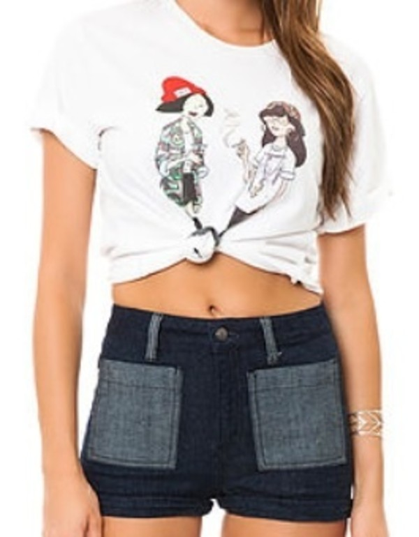 t-shirt white daria