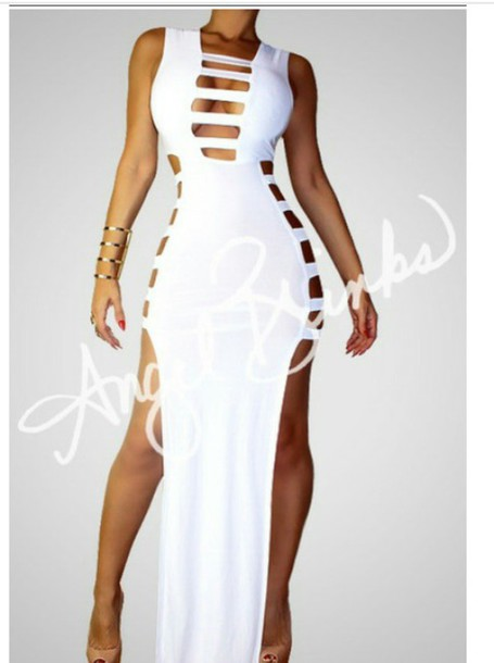 dress white dress maxi boutique