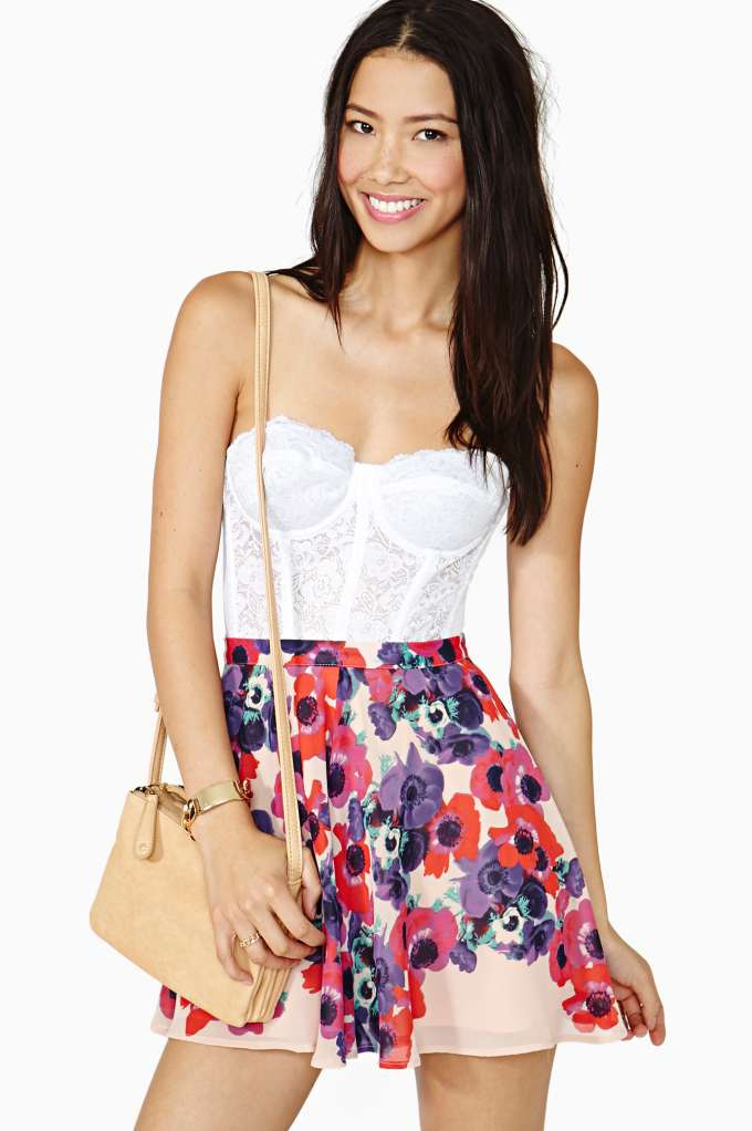 Nasty Gal Bloom Street Skater Skirt  in  Clothes Bottoms Skirts at Nasty Gal