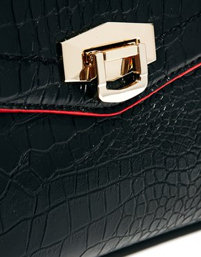 River Island | River Island Croc Embossed Bag at ASOS