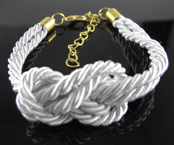 Fashion Style White Leather Wrap Adjustable Ropes Design European Bracelet | eBay