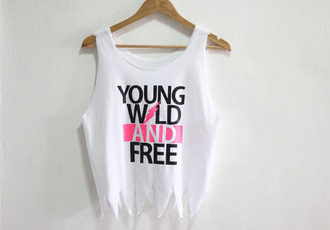 t-shirt vest tank top white pink black clothes wild young free