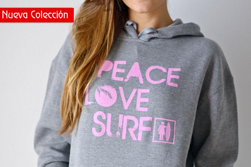 Sudadera gris chica   Like To SURF
