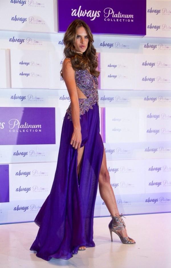 dress alessandra ambrosio prom dress long prom dress prom dress purple dress