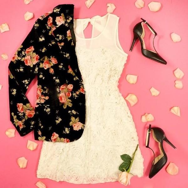 jacket blazer floral pink dress shoes