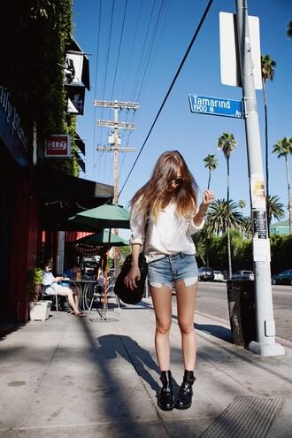 rumi fashion toast blue shorts shorts