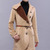 ROMWE | Color Contrast Collar Khaki Coat, The Latest Street Fashion