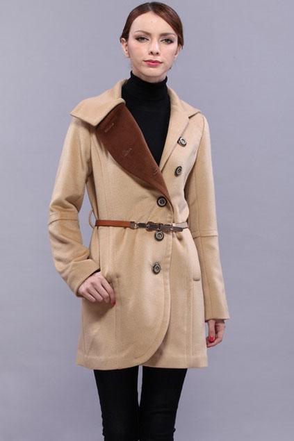 ROMWE   Color Contrast Collar Khaki Coat, The Latest Street Fashion