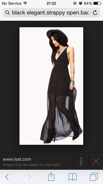 dress open back strappy long