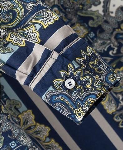 Retro Totem Print Chiffon Blouse - Clothing