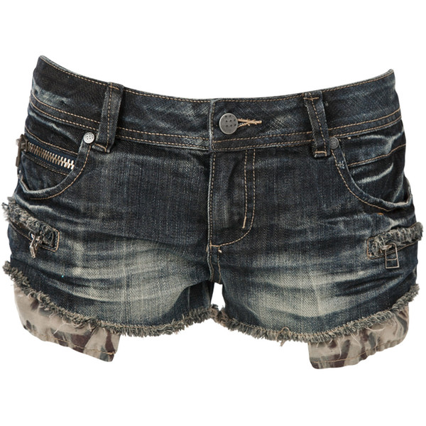 Crafted Zip Hotpants - Polyvore