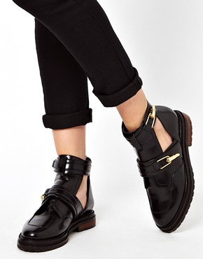 ASOS | ASOS ASTONISHED Leather Cut Out Ankle Boots at ASOS