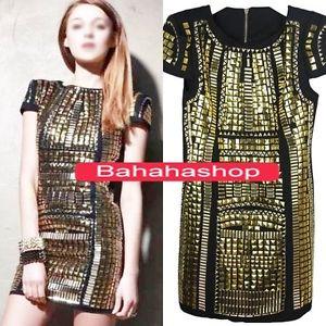 Celeb Style Gold Sequin Dress Paillette Cocktail Evening Dresses Metallic Square | eBay