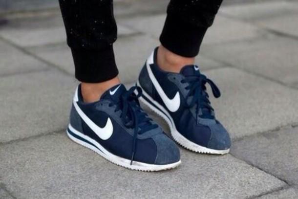 shoes nike blue white
