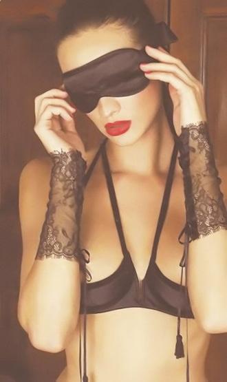 underwear bra mask sexy black fifty shades of grey