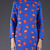 Blue Long Sleeve Lips Print Dress - Sheinside.com