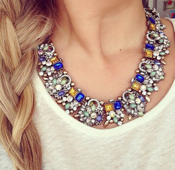 jewels necklace gold gold jewelry silver jewelry silver jewelry saphir cristal cristal necklace girly diamonds