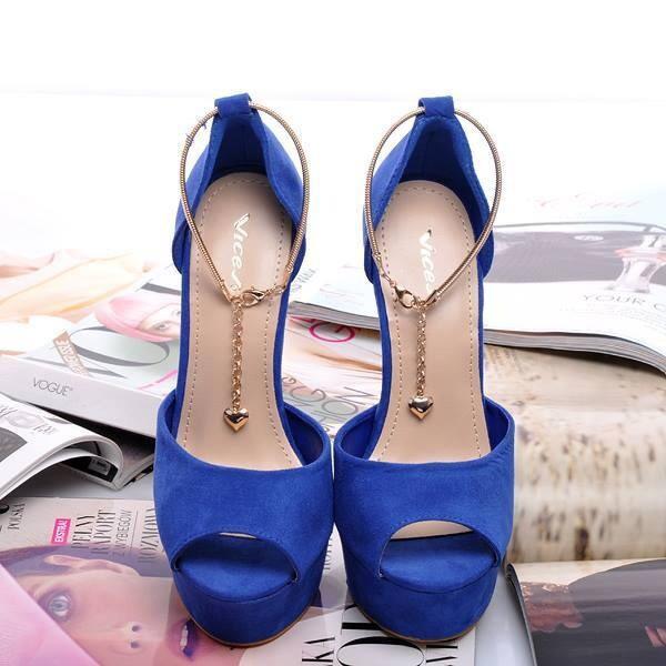 shoes high heels bleu pants