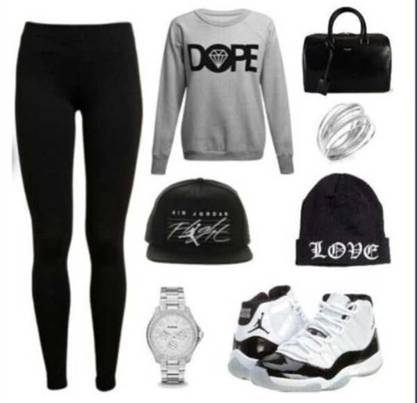 shoes sweater hat