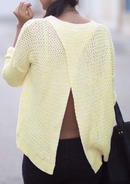 sweater open back