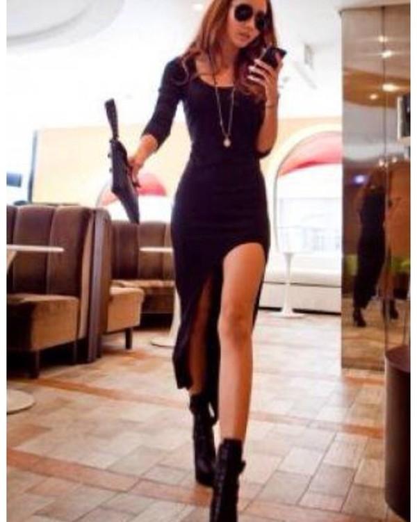 dress black dress high-low dresses