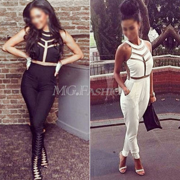 New Sexy Women gauze Outfits Bodycon Jumpsuit&Romper Trousers Clubwear | eBay