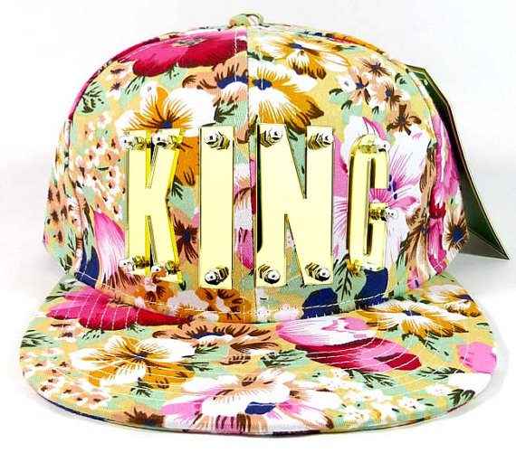Gold Acrylic Letters Snapback Baseball Cap Hat by theChainery
