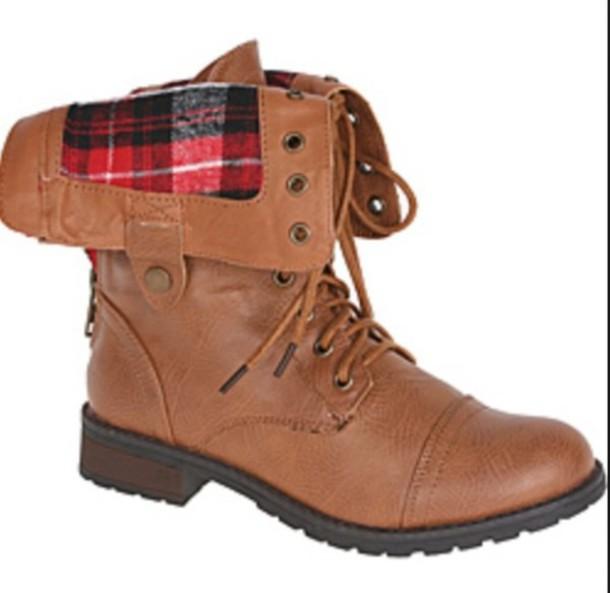 shoes boots tartan red tartan tartan boots brown boots ankle boots