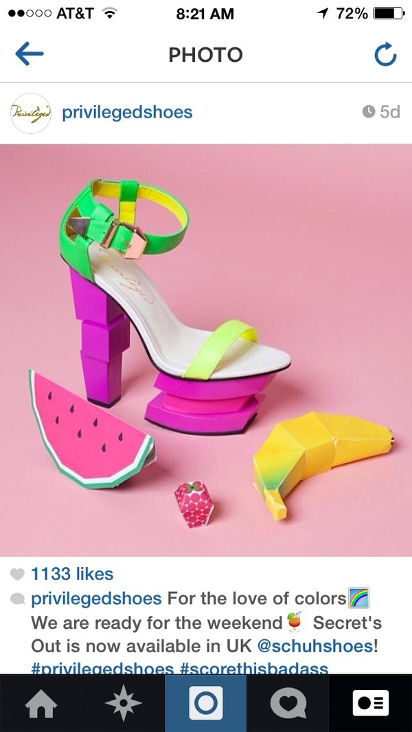 shoes watermelon print