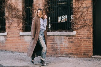 sea of shoes blogger jeans blouse coat shoes