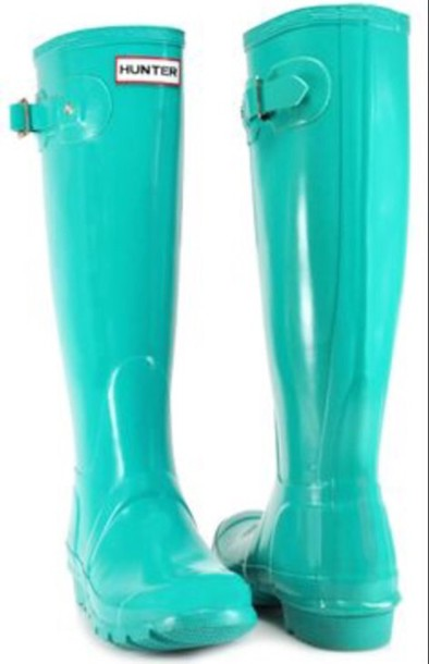 shoes teal hunter rain boots