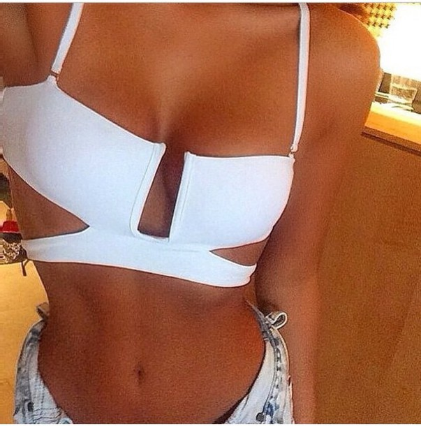 top bikini top white swimwear criss cross bikini bikini bottoms cute want exactly this one love