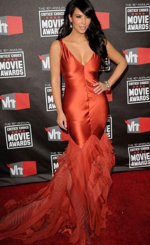dress kim kardashian red dress