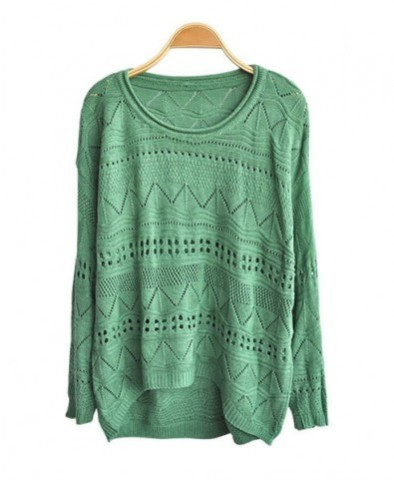 CUT OUT KNITTED JUMPERS WITH HIGH LOW HEM 2 / iWooz   Keep.com