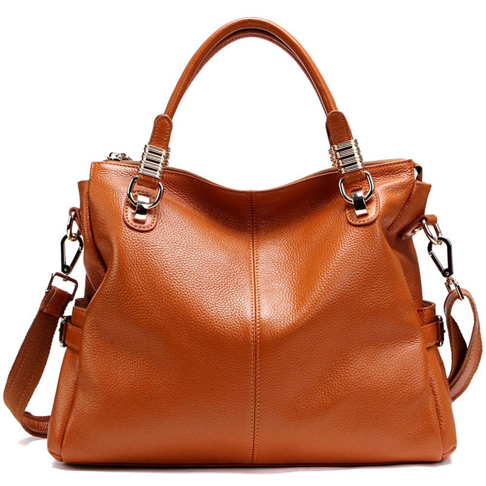 NEW Women'S Genuine Leather Handbag Shoulder BAG Tote Shopper   eBay