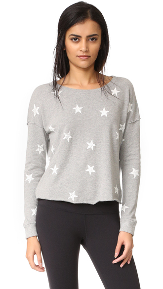 t-shirt splendid ashbury star sweatshirt terry long sleeves well-traveled look splendid sweatshirt