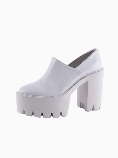 Leather Platform Shoes   Choies