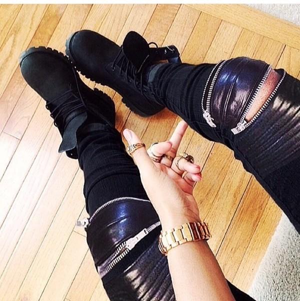 pants joggers pants black sweatpants jeans leather