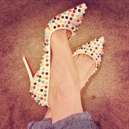 Christian Louboutin Pigalle Spikes - Rosa   Pink