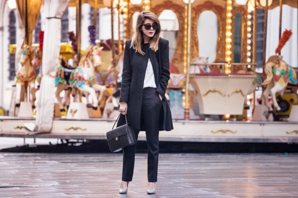 scent of obsession coat shirt pants bag sunglasses shoes