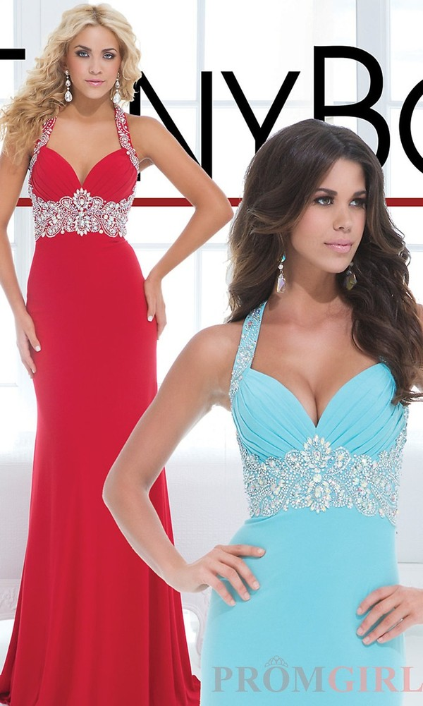 dress red sparkle long prom dress tony bowls hot