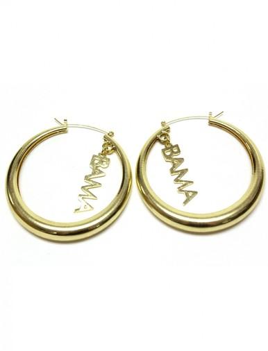 Obama Earrings Gold - Erika Peña