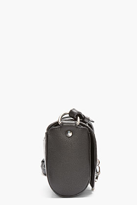 Givenchy Black Leather Small Sugar Obsedia Shoulder Bag for women | SSENSE